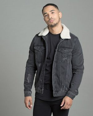 Perez Borg Collar Denim Jacket